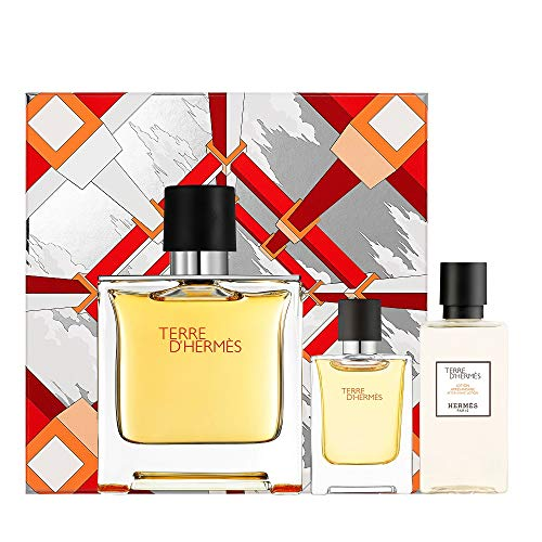 Hermes - Terre d'Hermes GIFTSET, After Shave Lotion 40ml/Pure Parfum Spray 75 ml/Pure Parfum Spray 12,5 ml - 0ML
