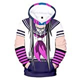 2021 Hombres y Mujeres Anime Hoodie Imprimir Pullover-Danganronpa Pullover Pullover Cosplay 3D Pullover Sweater 2021 New Unisex-Anime Fans Amor (Color : 5e, Size : XL)