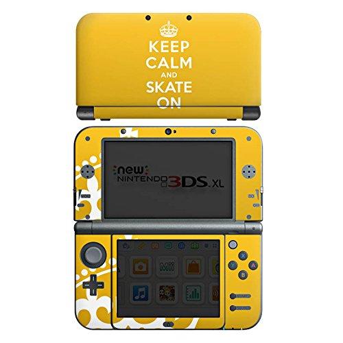 DeinDesign Skin kompatibel mit Nintendo New 3DS XL Aufkleber Sticker Folie Keep Calm Skateboard Skaten