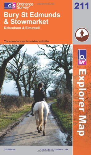 OS Explorer map 211 : Bury St Edmunds & Stowmarket