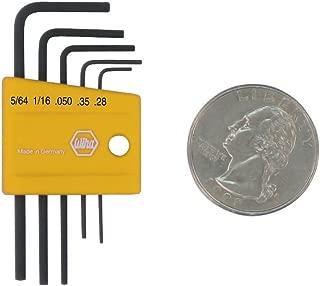 Wiha 35393 5 Piece Mini L-Key Short Hex SAE Set