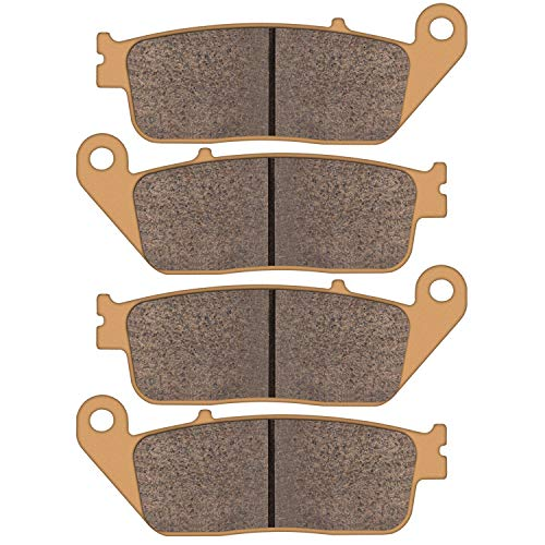 Zinger Brake Pad for Honda CB 500 VT 750/1100/1300 & 2013-2015 Suzuki VL 1500 & 2012-2014 BMW C 600 Sport/C 650 GT,2 Set Replacement Brake Pads
