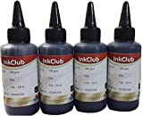 Inkclub Dye Ink For HP & Canon Printers,100 ml (Set of 4)(Black) printer for ciss Mar, 2021
