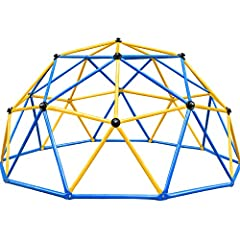😁The Zupapa Dome Climber is so firm that it can be fit for 1-6 kids within 10-year old climbing on it. And we have increased the thickness of all the steel pipes so that the weight capability is over 750LBS, so just feel free to use it. And when asse...