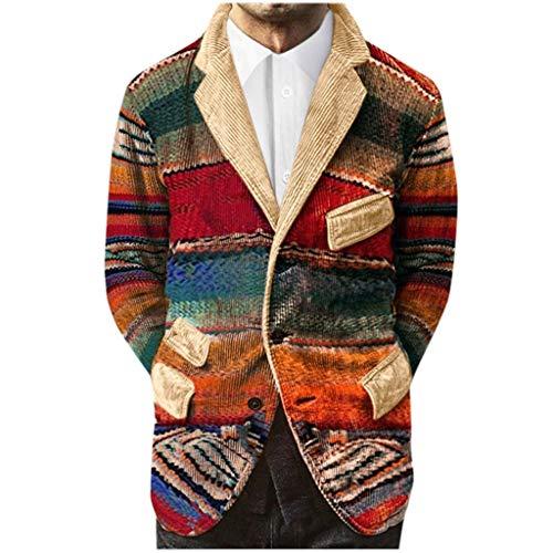 Briskorry jacken herren winter Party Geschäft Farbverlauf drucken Taste Taschen Cordanzug Mantel Jacken cordjacke herren Coat