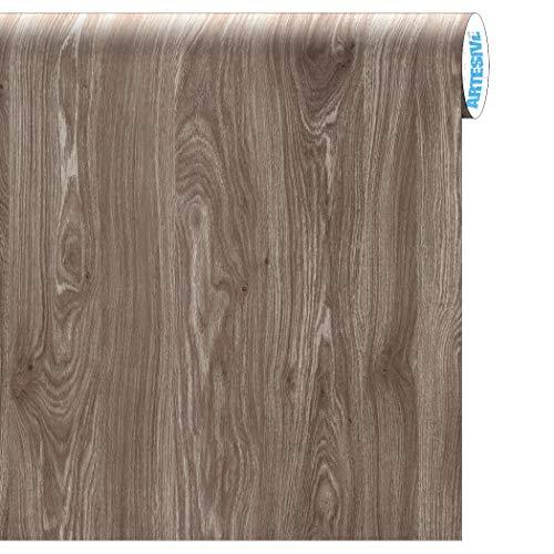 Artesive WD-066 Rovere Moka larg. 60 cm AL METRO LINEARE - Pellicola Adesiva effetto legno per decorazione interni, rinnovare mobili, porte e oggetti di casa