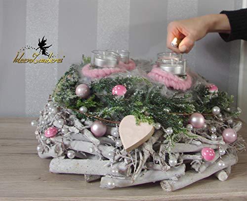 Weihnachtsdeko, Adventskranz handmade, Großer Weihnachtskranz