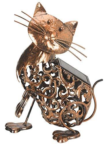 Smart Garden Deko-Katze aus Metall für Garten oder Terrasse, mit Solarlicht, Metall Cat