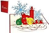LIN 17569, POP UP Weihnachtskarte, Pop Up Weihnachten, Weihnachtskarte, 3d Weihnachtskarten, 3d Karte Weihnachten, Adventskarten, N452