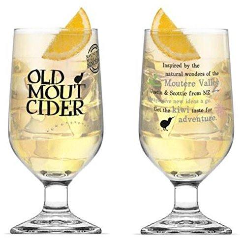 Old Mout Cider–Juego de 2vasos de pinta para sidra, 591,5ml