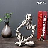 Gelentea - Figura decorativa de piedra arenisca abstracta decorativa tallada a mano para...