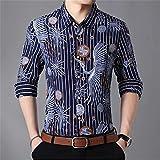 HDDFG Camisas a cuadros para hombre, otoño, con botones, manga larga, informal, camisa social, oficina de negocios, talla grande 7XL (Color : A, Size : 7XL code)