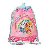 Patrulla Canina Paw Patrol Follow Your Rainbow Bolsa de Merienda Rosa 27x34 cms Poliéster