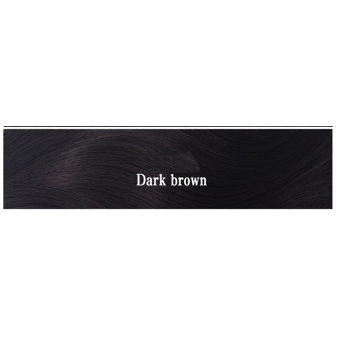 口径同じ小康BOBIDYEE 女性のためのナチュラルカラーウィッグショートボブ合成フルヘアウィッグ耐熱ショートストレートウィッグ女性35センチファッションウィッグ (色 : Dark brown)