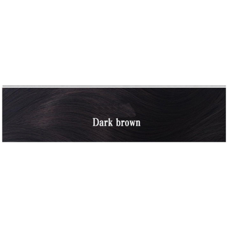 持参書誌パスタKoloeplf 女性 耐熱 長い ストレート ウィッグ 人間の髪 フラット バンズ ウィッグ ナチュラル カラー パーティ 220g (Color : Dark brown)