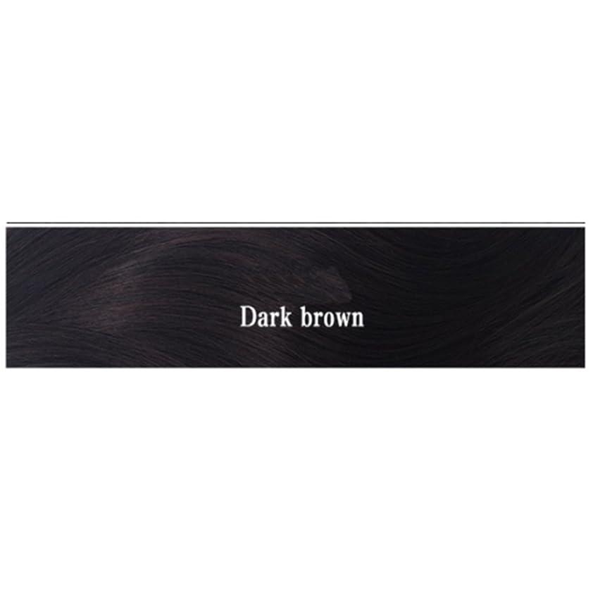 娯楽ジェット削除するBOBIDYEE 女性のためのナチュラルカラーウィッグショートボブ合成フルヘアウィッグ耐熱ショートストレートウィッグ女性35センチファッションウィッグ (色 : Dark brown)