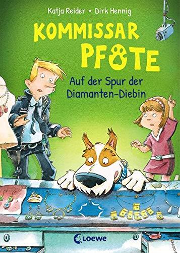 Kommissar Pfote 2 - Auf der Spur der Diamanten-Diebin: Polizei-Buch für Erstleser ab 6 Jahre