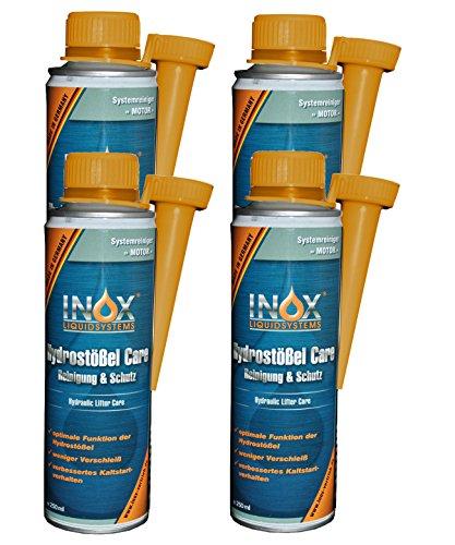 INOX® Hydrostößel Care Reinigung, 4 x 250 ml - Reiniger & Schutz Additiv für alle Benzin- und Dieselmotoren, weniger Verschleiß und verbessertes Kaltstartverhalten