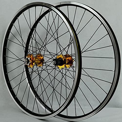 Ruedas Bicicleta Montaña Ruedas Juego 26/27.5/29 Pulgadas MTB Rueda Aleación Aluminio Llanta 32H Liberación Rápida Buje Disco/V Freno Rueda Delantera Y Trasera 2200g 7-12 Velocidad ( Size : 29inch )