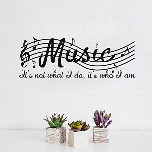 71x26cm, Visual Stickers, Waterproof Stickers, Staff Music Note Quote Klasse Piano Artwork Malerei Malerei Schlafzimmer Sticker Letter Stickers Artwork Slang