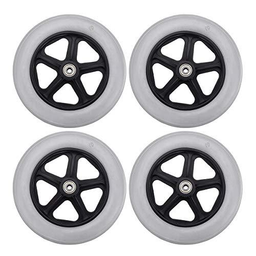 Yongenee Durable. 4 stücke Caster Rad mit Lager für Rollator Walker Ersatzteile Möbel Hardware Räder