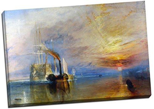 J.M.W. Turner impresión en lienzo, cuadro 30 x 50,8 cm grande