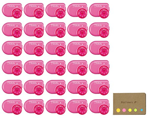 Kutsuwa STAD Angle Adjustable Pencil Sharpener T'GAAL, Pink, 30-pack, Sticky Notes Value Set