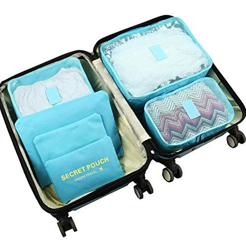 CCMOO 5 stücke Travel Home Kleidung Decke Aufbewahrungstasche Set Schuhe Partition Ordentlich Organizer Kleiderschrank Koffer Beutel Verpackung Cube Taschen, B7