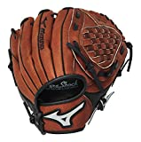 Mizuno Prospect Baseball Glove, Chestnut, Youth/Kids, 10', Worn on left hand
