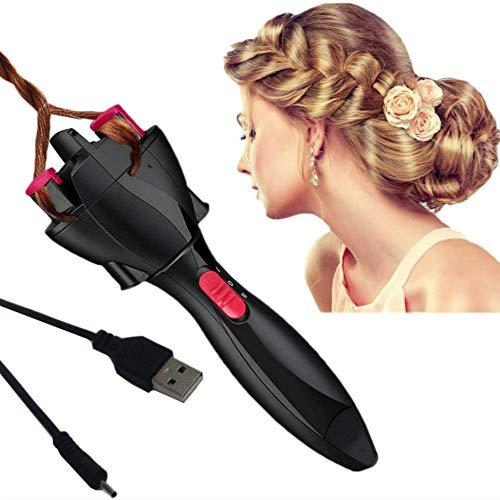 Vibrerende Geluid met De Alinea Snelle Vlechten Twister Apparaat Dames Kinderen Elektrische Luie Automatische Vlechten Haar Gevlochten Artifact roze