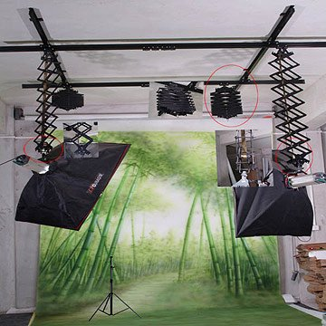 Pro Photo Connect Photo Studio Lighting Support Rail System Cover 106'...