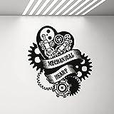 Kjlfow Mechanische Kunst Vinyl Wandtattoo für Jungen Schlafzimmer Steam Quku Art Wandaufkleber Wohnkultur Aufkleber 57x63cm
