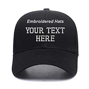 Custom Embroidered Hats Your Own Text Curved Bill Hip Hop Snapback Baseball Hats Black