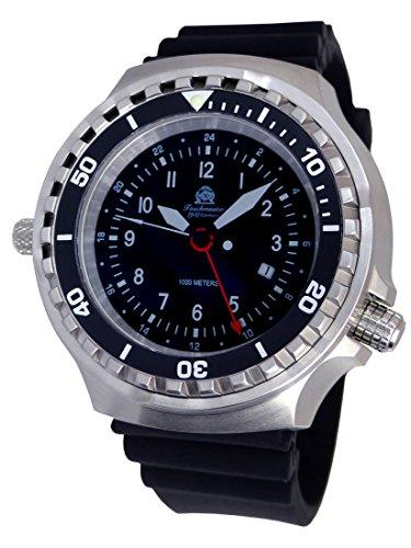 Tauchmeister - Reloj XXL 52 mm – 1000 m – Reloj militar de buceo con cristal de zafiro y válvula de helio T0311