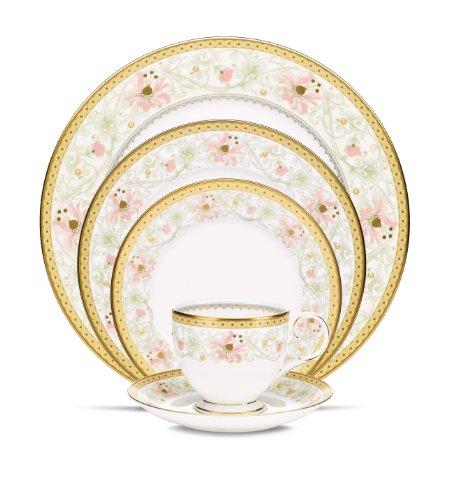 Noritake Blooming Splendor 5-Piece Place Dinnerware Setting in Green/Pink/White