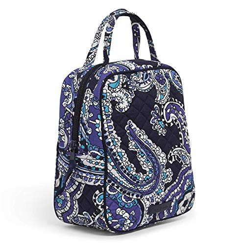Vera Bradley Women's Signature Cotton Lunch Bunch Lunch Bag, Deep Night Paisley, One Size
