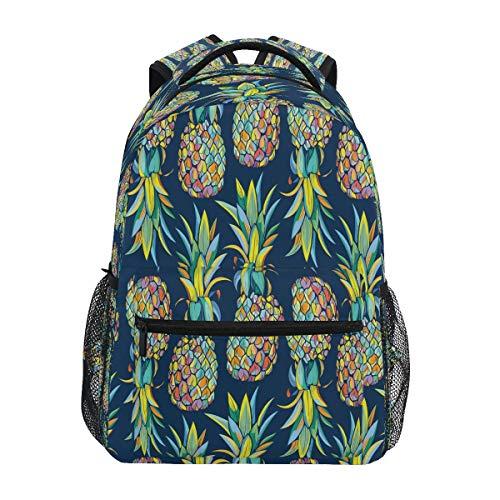 XIXIKO - Mochila de verano con frutas y piñas, mochila escolar, viajes, al aire libre, para mujeres, hombres, niños, niñas, deporte, gimnasio, senderismo, camping, mochila