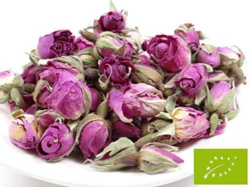 pikantum Bio Rosenknospen | 250g | Damaszena-Rosen | Rosenblüten | intensiver Rosenduft | wunderschöne rosa bis voilette Farbe
