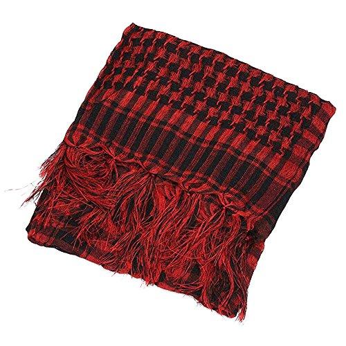TOPmountain Cachecol multifução à prova de vento para uso ao ar livre com três cores, Preto e vermelho, Average
