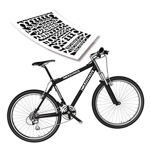 Fahrrad Beschriftung Aufkleber Bike Decals Carbon Rennrad & MTB| S4B0108
