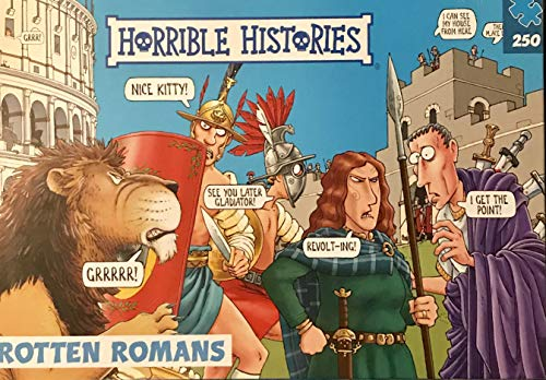 Horrible Histories PLG 7275 Romans - Puzzle (250 Piezas), diseño de Paul Lamond Games, Color Azul
