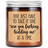 LEADO Lavender Scented Candles, Funny Gifts for Women, Men - Relaxing, Mothers Day, Birthday Gifts for Women, Men, Friends, Mom, Dad, Wife, Husband, Coworkers - Sarcastic Gifts, Fun Gifts for Her, Him