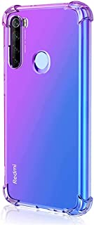 Leychan for Xiaomi Redmi Note 8 Case, Shockproof TPU Bumper Case Double-Color Soft Rubber Anti-Drop Protective Case Cover Fit for Xiaomi Redmi Note 8 Phone (Purple Blue)