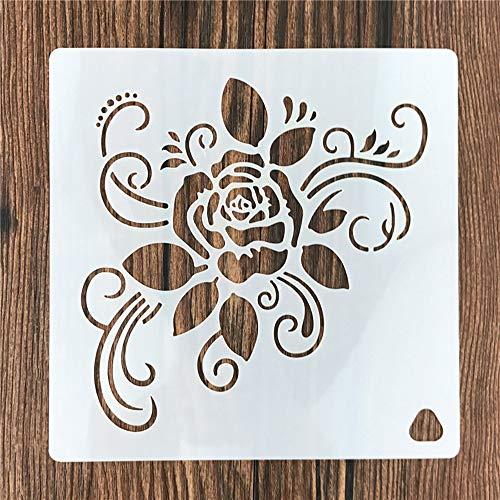 Entweg stencils, 1 pieza para decoración de tartas, plantilla de flores y rosas, material para mascotas, reutilizable para bricolaje, para hornear pasteles, pintura, manualidades,