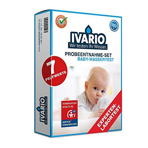 IVARIO Babywasser Labor-Wassertest für Trinkwasser, Experten-Laboranalyse auf u.a. Blei, Nitrat, Kupfer, Nickel/kostenlose Beratung/Einfache Probenahme