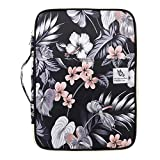 Multi-Functional A4 Document Bags Travel Portfolio Organizer Waterproof Travel Pouch Notepad Carrying Cases File Holder Tablet Sleeve Storage Bag for Travel Office Business Meeting (Mulberry White)