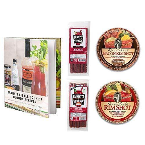 Amazon Com Bloody Mary Garnishing Kit 2x Demitri S Flavored Rim Salt Spiced Salt Bacon Salt 2x Benny S Snack Straws Pack Of 5 Original Chipotle W Recipe Booklet Rimming Salts