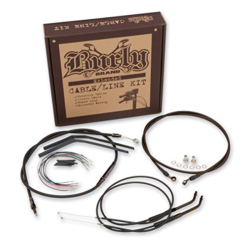 Burly Brand Black 14' Ape Hanger Cable/Brake/Wiring Kit B30-1004