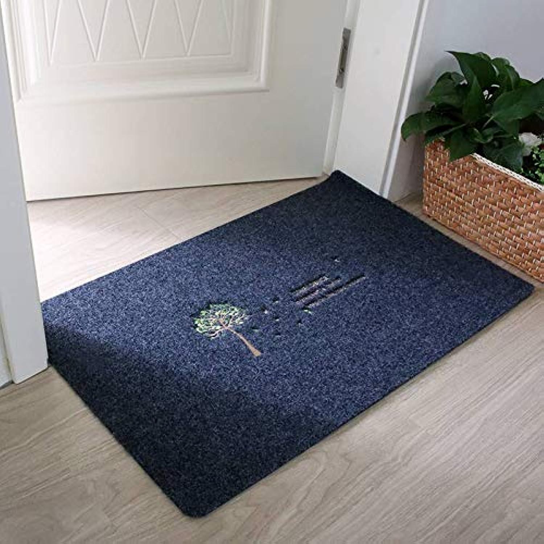 Doormat, TPR Slip Waterproof Durable Indoor Floor Mat Suitable for Entrances, Front Doors, Corridors and Terraces-bluee-80x120Cm(31x47Inch)