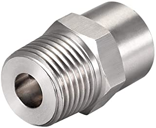 uxcell Full Cone Tip, 1/2BSPT Stainless Steel Wide Angle Nozzle